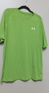 Men's Under Armour Green Heat Gear TSHIRT Sz  L